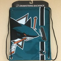 San Jose SHARKS Drawstring BackPack by Forever Collectibles