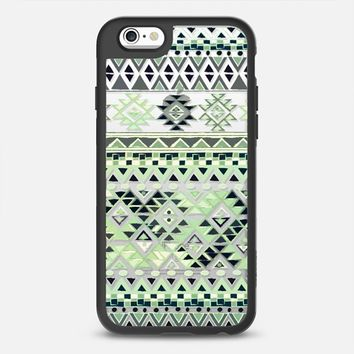 TRIBAL BOHO NATIVE - TEAL // CRYSTAL CLEAR PHONE CASE iPhone 6 case by Nika Martinez | Casetify
