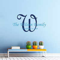Personalized Name Decal Family Name Decal Wall Decal Vinyl Sticker Wall Decor Home Interior Design Art Mural vk101