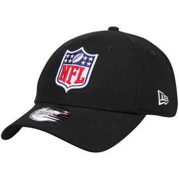 Men's NFL Shield New Era Black Logo 9FORTY Adjustable Hat