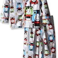 Thomas the Train Little Boys' Steam Engine Racers 2-Piece Pajama Coat Set, Gray, 3T