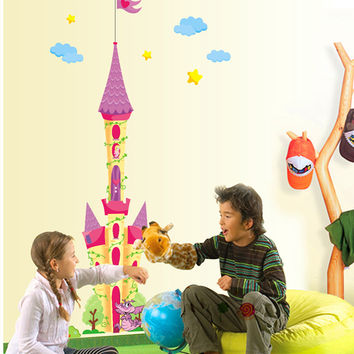 The new dream castle children room household adornment wall stickers in the wall to stick on the wall SM6