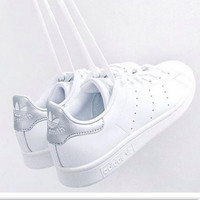 """Adidas"" Fashion Shell-toe Flats Sneakers Sport Shoes Grey"