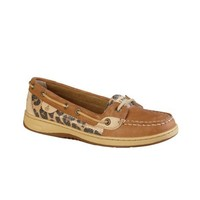 Womens Sperry Top-Sider Angelfish Boat Shoe, Tan/Leopard, at Journeys Shoes