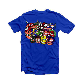 Avengers hand  drawn as Sugar Skulls - tee shirt