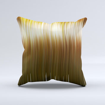 Brown Vector Swirly HD Strands Ink-Fuzed Decorative Throw Pillow