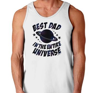 Best Dad in the Entire Universe - Galaxy Print Loose Tank Top