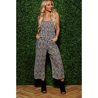 Ready To Pounce Leopard Jumpsuit (Charcoal)