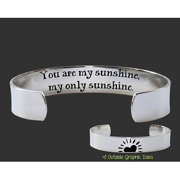 You Are My Sunshine My Only Sunshine Bracelet