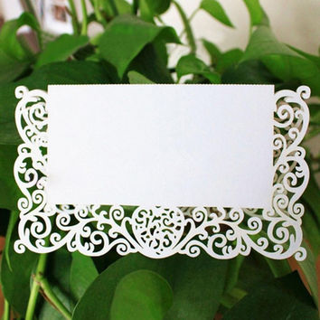 20Pcs/Lot Lace Name Place Cards