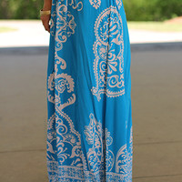 SoHo So Chic Maxi Skirt, Blue