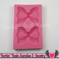 Rhinestone BOWS SILICONE MOLD Food Grade Flexible