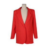 Single-Buttoned Notch Lapel Jacket