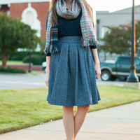 Something To Believe Skirt, Navy