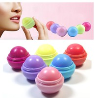 Lip Gross Enhancer 6 color Natural Plant Organic Sphere  Pomade Coc Cola Ball Lipstick Embellish Lip Balm,Chapstick