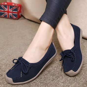 Soft Sole Lace Up Comportable Casual Flats