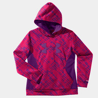Girls' Armour Fleece Storm Printed Big Logo Hoodie | 1239168 | Under Armour US