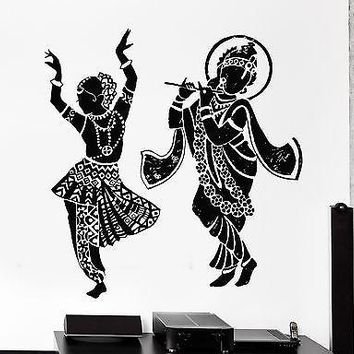 Indian Wall Decal Buddha Dance Dancing Indian Hinduism Gods Vinyl Sticker Unique Gift (z2879)