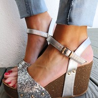 All That Glitters Wedges: Silver