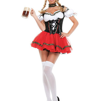 Sexy Adult Beer Girl Festival French Maid Party Dresses Halloween Cosplay Oktobe