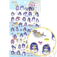 Cute Cartoon Penguin Shaped Funny Animal Party Themed Puffy Stickers for Scrapbooking