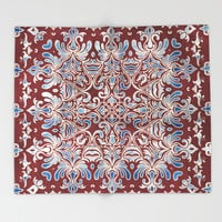 Geometry In Bloom Throw Blanket by Octavia Soldani | Society6
