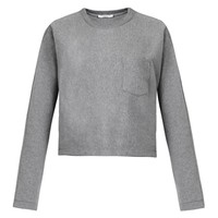 Dolman-sleeve cropped sweatshirt | T By Alexander Wang | MATCHESFASHION.COM US