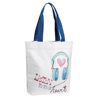 Inspirational Tote, Listen To Your Heart Graphic