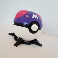 Master Ball Prop, Full-Scale/Resin Cast/Painted with FREE Stand!
