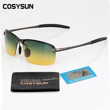 2016 Day Night Vision Goggles Driving Polarized Sunglasses Man car Driving Glasses Anti-glare Alloy Frame glasses night