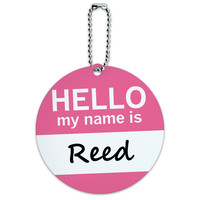 Reed Hello My Name Is Round ID Card Luggage Tag