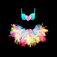 Katy Perry inspired neon Tutu Set  great for EDM EDC rave wear