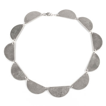 Half Moon Collar Necklace, Assorted Metals
