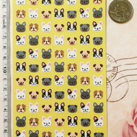 Mini Dog Stickers for Schedule, Planner, Calendar and Crafts