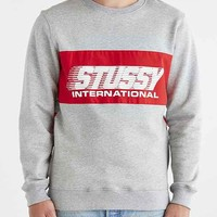 Stussy Cycle Fleece Sweatshirt- Charcoal