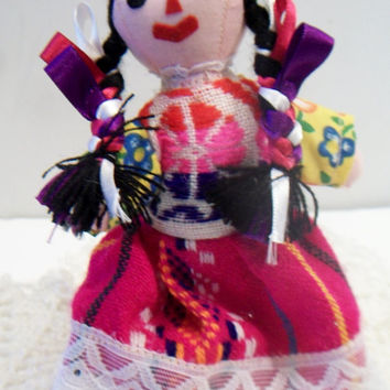 Vintage Mexican Folk Art Doll