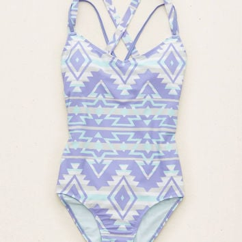 AERIE MESH ONE-PIECE SWIMSUIT