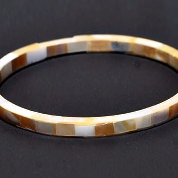 Shell and Resin Bangle