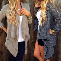 Kiara Cardigan - Women's Loose Sweater Long Sleeve Knitted Outwear Cardigan Jacket Coat
