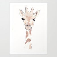 Giraffe Art Print by &alice