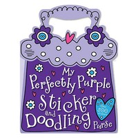 My Perfectly Purple Sticker and Doodling Purse