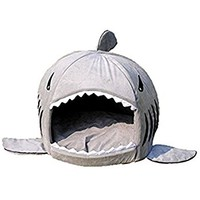 Pet bed, KAMIER Shark Round Washable Soft Cotton Dog Cat Pet Bed