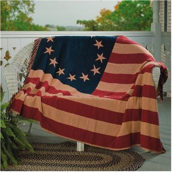Old Glory Woven Throw by VHC Brands - Throws at Hayneedle
