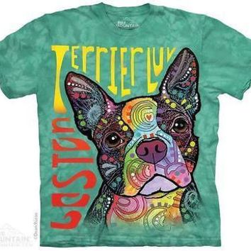 New BOSTON TERRIER LOVE  T SHIRT RUSSO STYLE  SHIRT