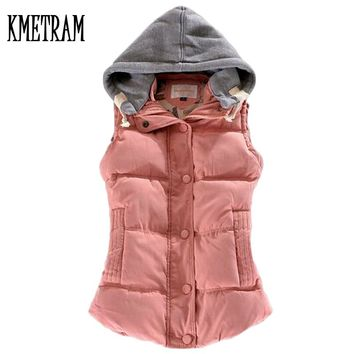 women's cotton wool collar hooded down vest Free shipping Hot high quality Brand New female winter warm Jacket&Outerwear YG