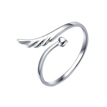 Lady Angel Wing Style Adjustable Finger Ring