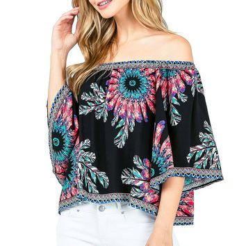 Dream Catch Off Shoulder Top
