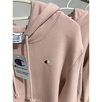 Champion Woman Men Casual Embroidery Hoodie Top Sweater