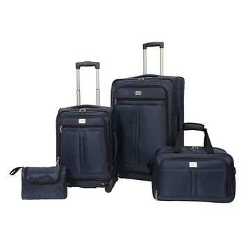 Dockers Luggage, Lakeside 4-piece Spinner Luggage Set