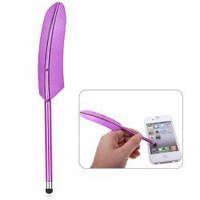 Luxurious Feather Design Capacitive Screen Stylus Touch Pen for iPhone 5/New iPad/Samsung Galaxy S3 i9300/etc